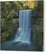Lower South Falls Landscape Wood Print