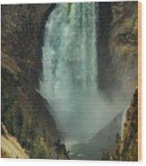 Lower Waterfalls Wood Print