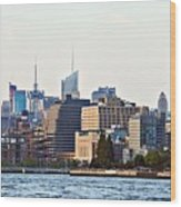 Lower West Side On The Waterfront Wood Print