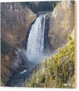 Lower Yellowstone Falls From Inspiration Point Wood Print