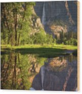 Lower Yosemite Morning Wood Print