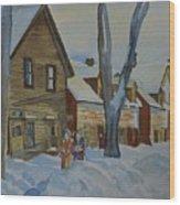 Lowertown Scene No. 2 Wood Print