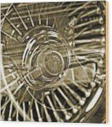 Lowrider Wheel Illusions 2 Wood Print