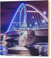 Lowry Bridge @ Night Wood Print