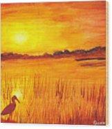Loxahatchee Sunrise Wood Print