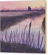 Loxahatchee Sunset Wood Print