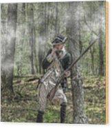 Loyalist Skirmisher  American Revolution Wood Print by Randy Steele