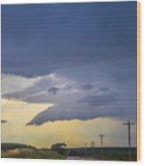 Lp Nebraska Storm Cells 005 Wood Print