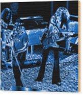 Ls #40 Enhanced In Blue Wood Print