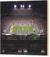 Lsu Aerial View Of Tiger Stadium Wood Print
