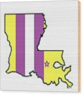 Lsu Louisiana Wood Print