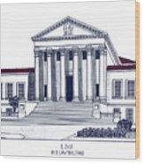 Lsu Old Law Building Wood Print