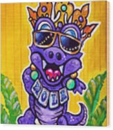 Lt Aka Nola Gator Wood Print by Terry J Marks Sr