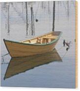 Lttle Row Boat Wood Print