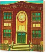 Lubavitch Synagogue Wood Print