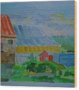 Lubec Fishery Wood Print