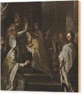 Luca Giordano Naples 1634 - 1705 The Consecration Of Saint Gregorio Armeno Wood Print