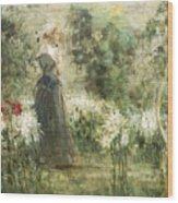 Luca Postiglione Napoli 1876 - 1936 The White Fleurs-de-lis Wood Print