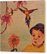 Lucas Le Petit Tournesol Wood Print