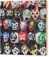 Lucha Libre Wrestling Masks Wood Print