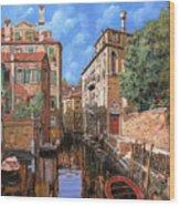 Luci A Venezia Wood Print