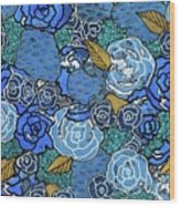Lucia's Flowers Wood Print