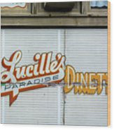 Lucille's Wood Print