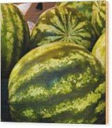 Lucious Watermelon Wood Print