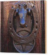 Luck At The Door Wood Print