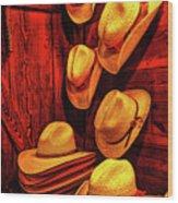 Luckenbach Hats Hdr Wood Print