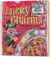 Lucky Charms Wood Print by Russell Pierce