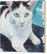 Lucky Elvis - Cat Portrait Wood Print