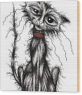 Lucky The Cat Wood Print