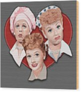 Lucy Expressions Gry Wood Print