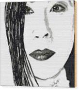Lucy Liu Wood Print