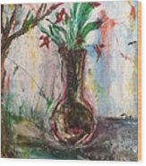 Lucy Vase Wood Print