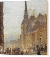 Ludgate Hill From The Steps Of The Cathedral Wood Print