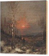 Ludwig Deutsch, Hunting In The Winter Wood Print