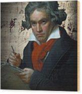 Ludwig Van Beethoven 1820 Wood Print