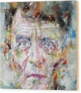 Ludwig Wittgenstein - Watercolor Portrait.2 Wood Print