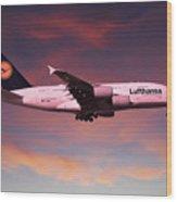 Lufthansa Airbus A380 D-aimh Wood Print