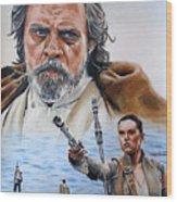 Luke And Rey Wood Print