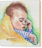 Lullaby Time Wood Print