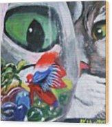 Lulu's Fish Wish Wood Print