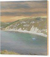 Lulworth Cove Panorama Wood Print