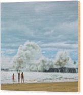 Lumahai Winter Wood Print