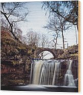 Lumb Falls Panoramic Wood Print