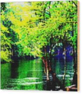 Lumber River II Wood Print