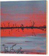 Lumiere Rouge Wood Print