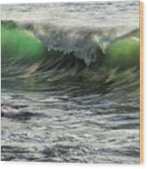 Luminous Evening Light Shines Through Incoming Waves At Hapuna Beach. Wood Print